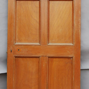 mahogany six panelled door