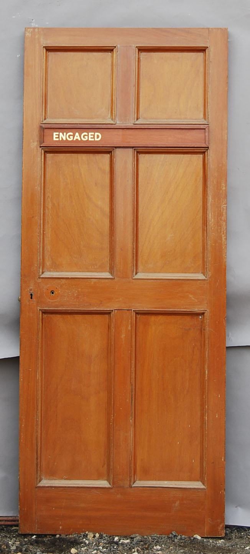 mahogany six panelled door
