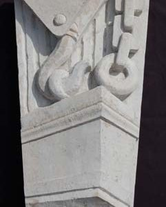 An English portland stone keystone-0