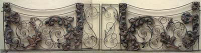 A pair of old wrought iron terrace gates-64390