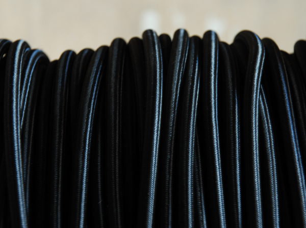 Black braided electrical cable-0