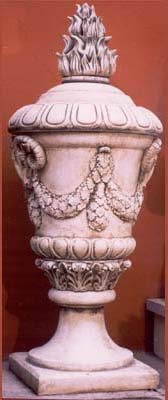 A French composition stone lidded urn-0