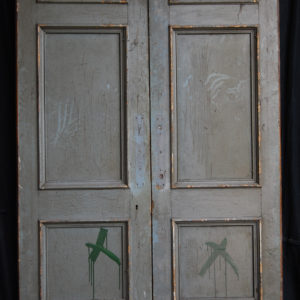 A pair of Victorian pine double doors-0