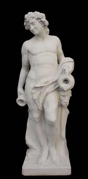 An Italian reconstituted marble figure of Bacchus-0