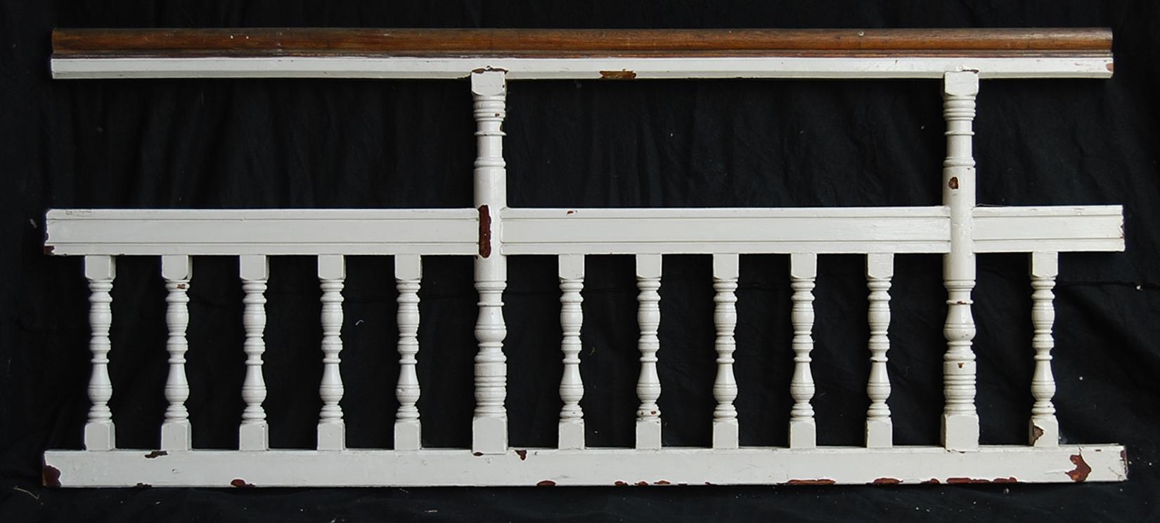 A run of Edwardian oak balustrade-0
