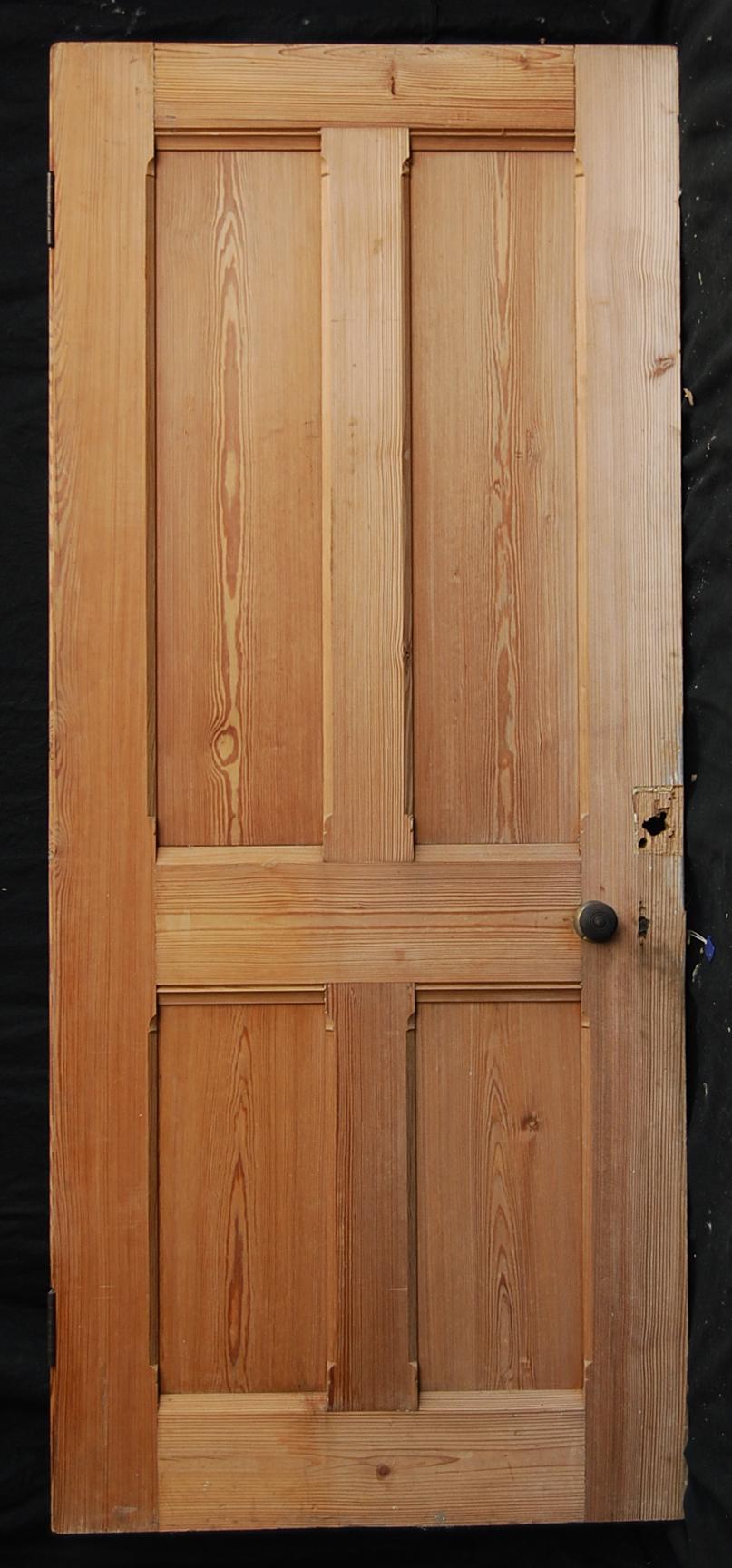 four panelled pine door