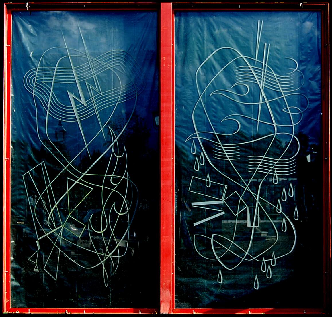 Helen Monro glass panes 3.66m high