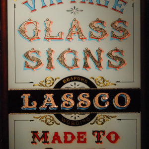 Bespoke hand-painted and gilded glass signs and mirrors-0