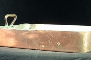 A very large heavy-guage copper rectangular pan-0