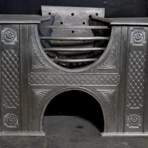 A fine George III cast-iron hob grate-0