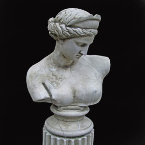 An English composition stone bust of Venus-0