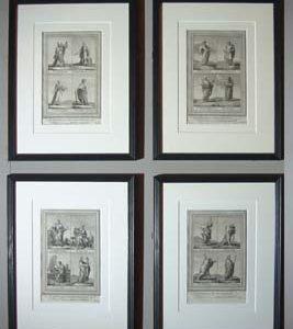 A set of four English prints-0