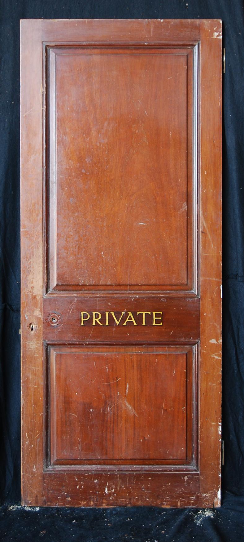 An English mahogany veneered two panel door-74809