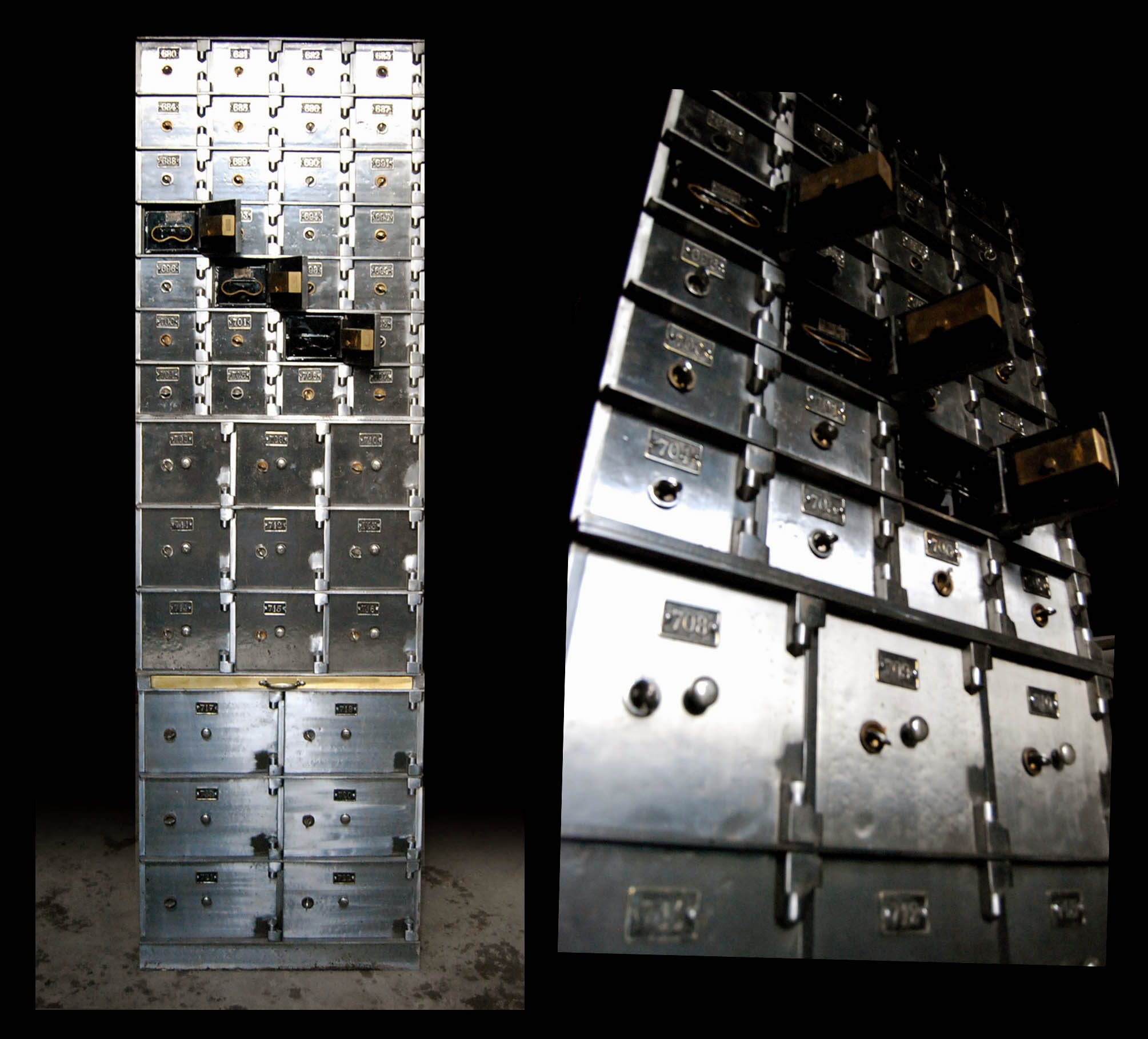 An Edwardian steel safety deposit box tower-0
