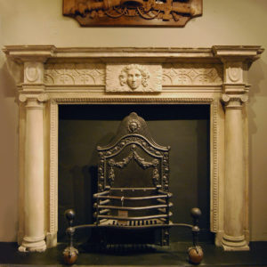 An English Ketton stone chimneypiece-0