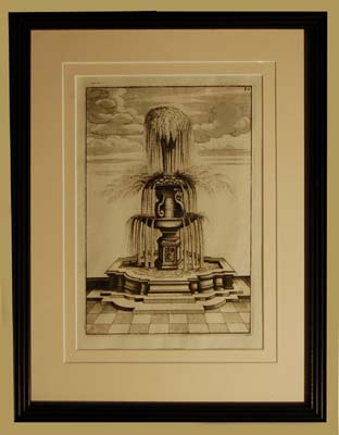 A set of eight Dutch prints of fantastical fountains-64756