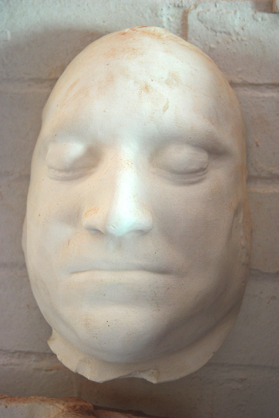 An English cast plaster death-mask of the hanged mutineer Richard Parker-0