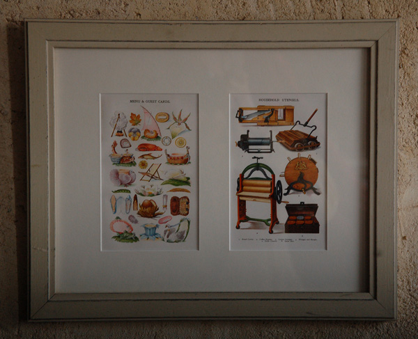 Mrs Beeton, Cromolithographs, mounted and framed-65534