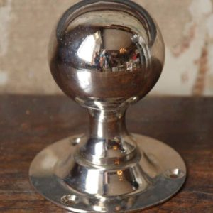 Victorian nickel plated door knobs