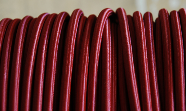 Maroon braided electrical cable-0