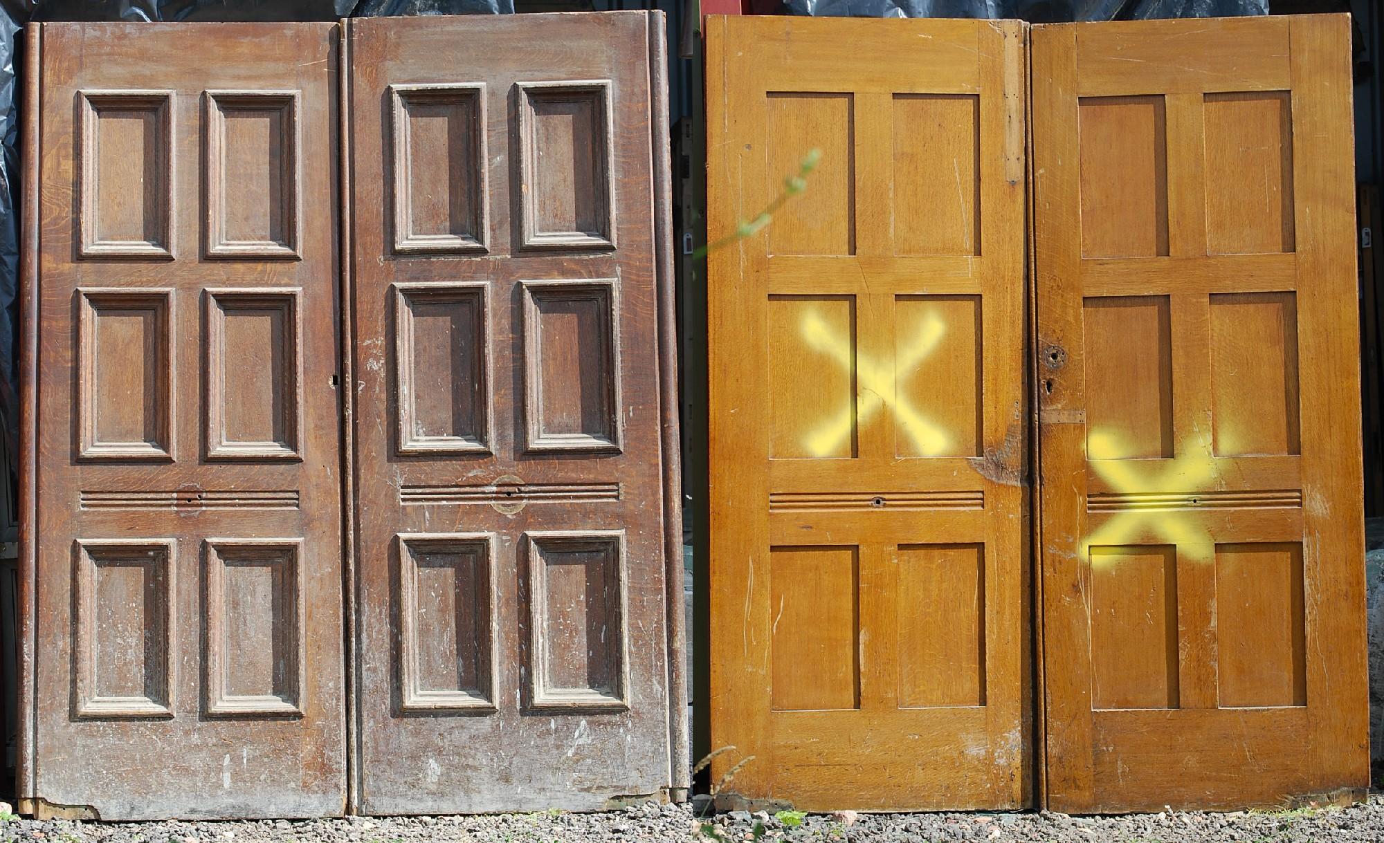 Six panel oak doors