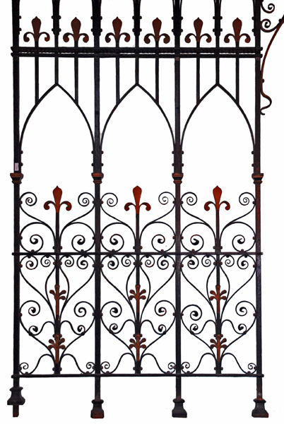 A wrought and cast iron chancel screen-73471