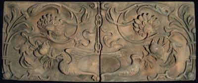 A two part composition stone frieze-0