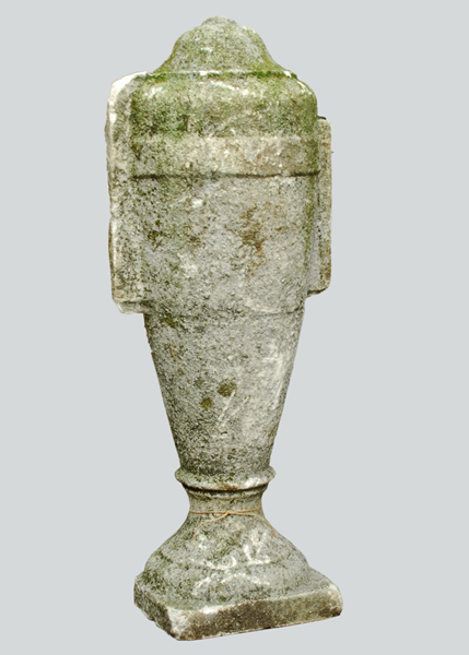A number of concrete lidded urn finials,-74226