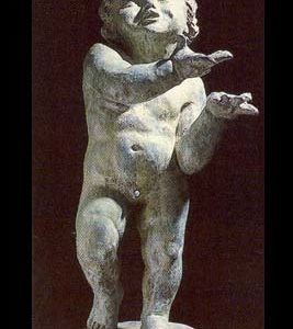 "An English bronze figure of a putto personifying ""Spring""-0"