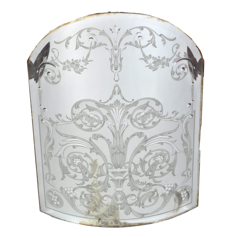 An exceptional collection of late nineteenth century pub mirrors and etched and bevelled glass-0