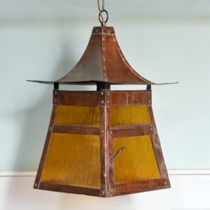 A copper Arts and Crafts lantern-0