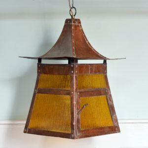A copper Arts and Crafts lantern-0