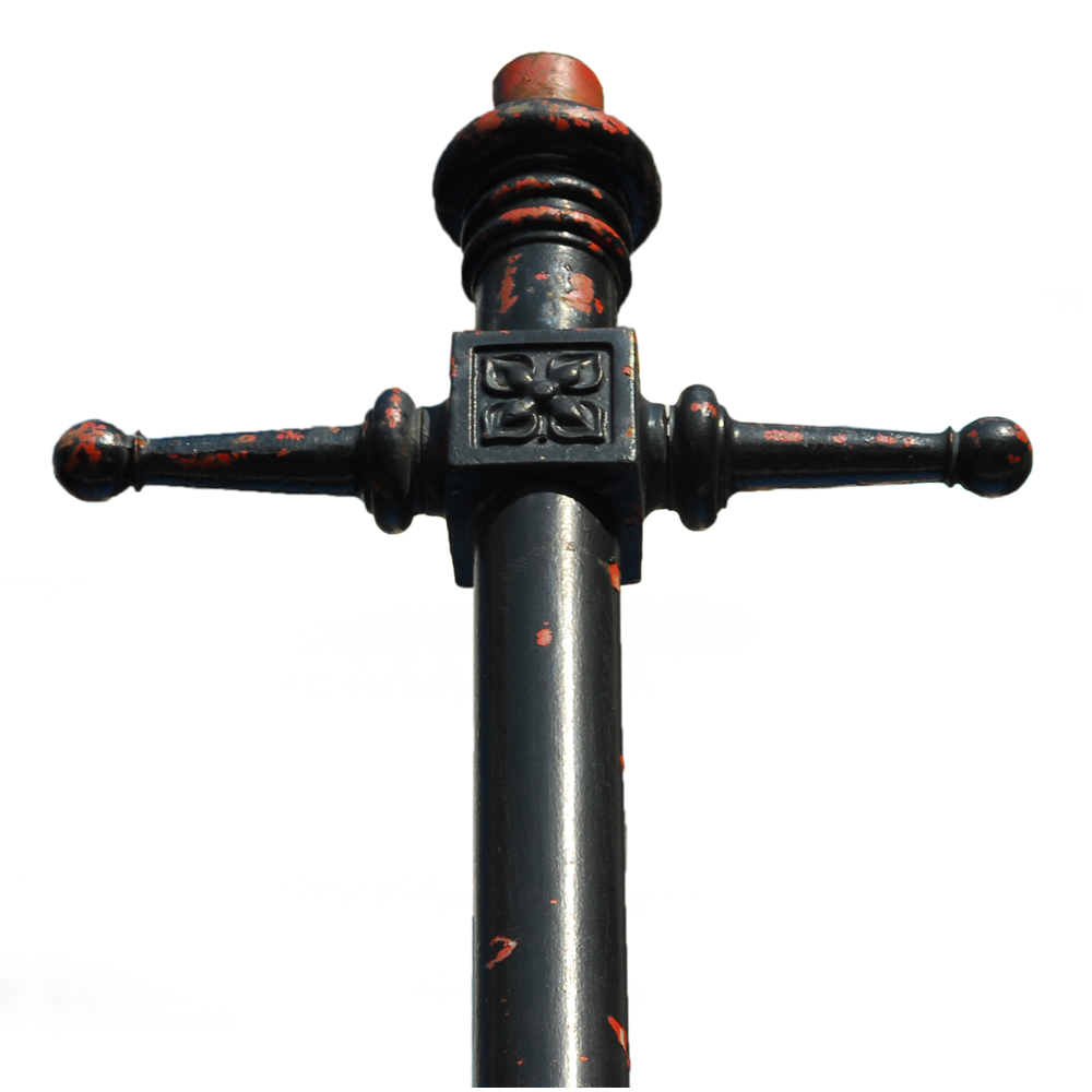 A number of cast iron lamp posts-79814