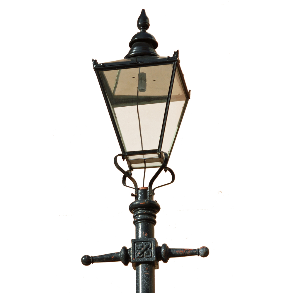 A number of cast iron lamp posts-79816