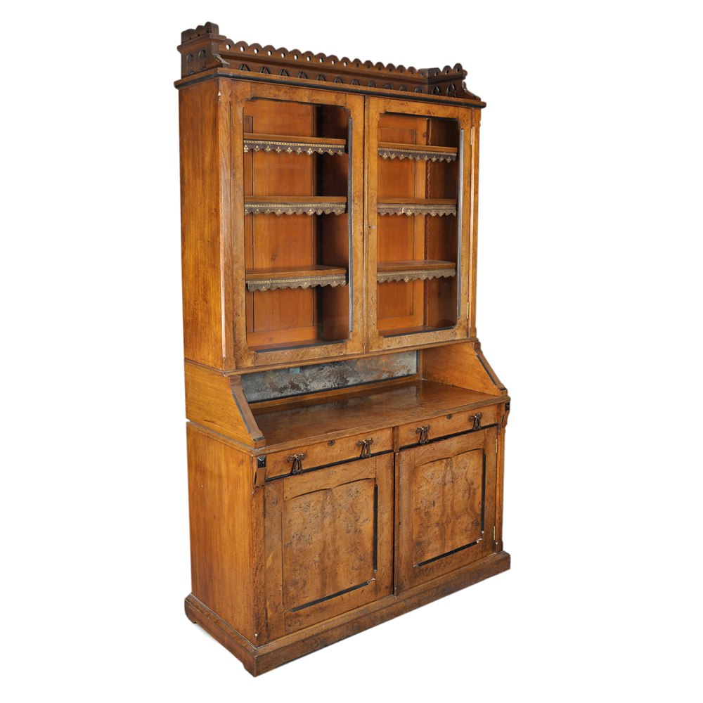 A Victorian Gothic Revival bookcase,-0