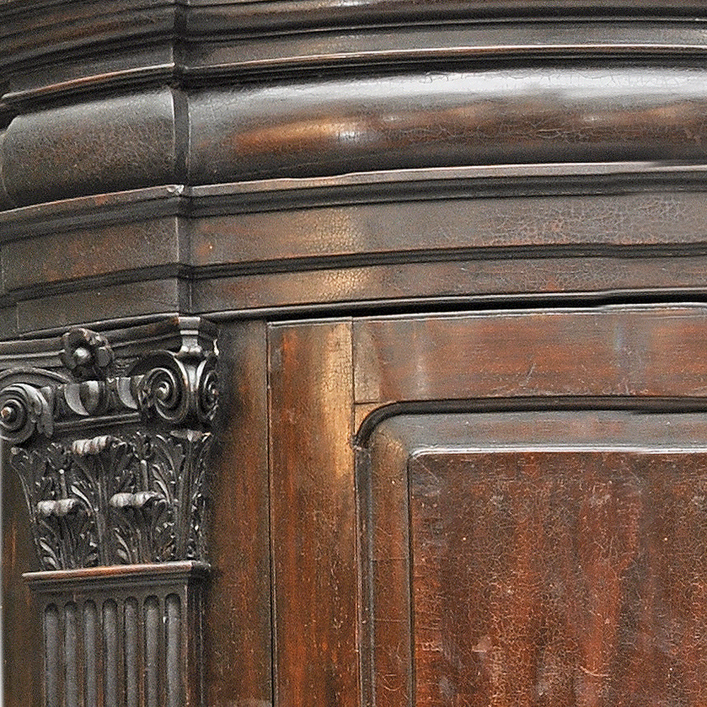 A George II mahogany corner cabinet-79641