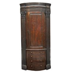 A George II mahogany corner cabinet-0