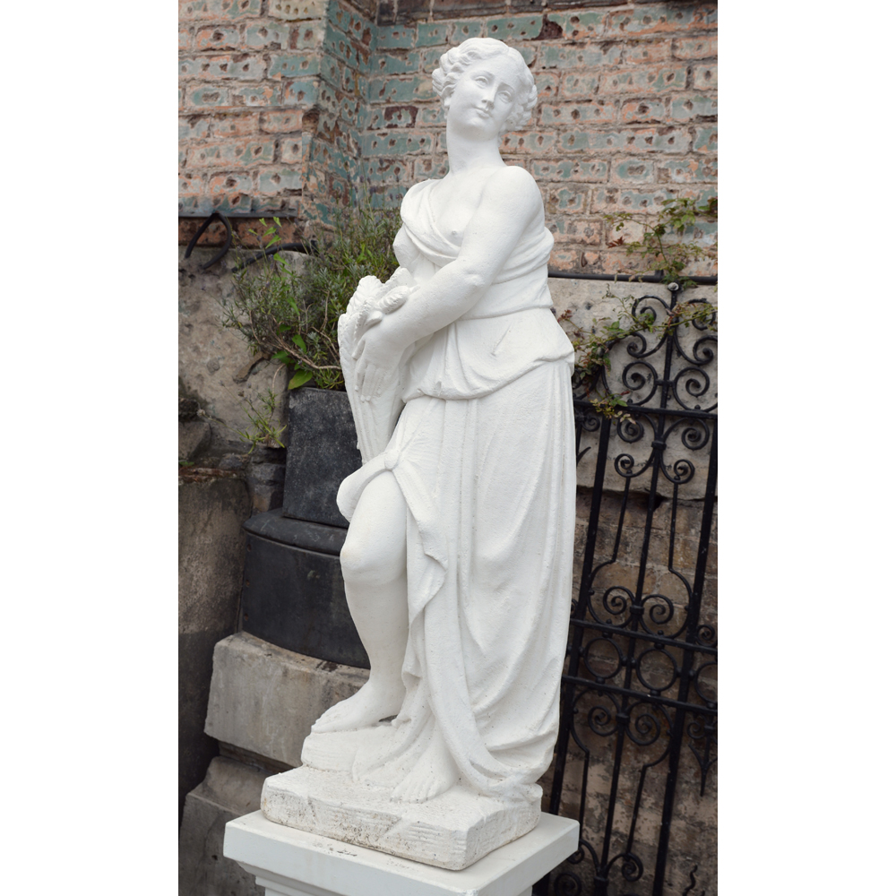 An Italian reconstituted marble figure of a maiden personifying 'Summer'-83780