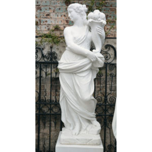 An Italian reconstituted marble figure of a maiden personifying 'Autumn'-0