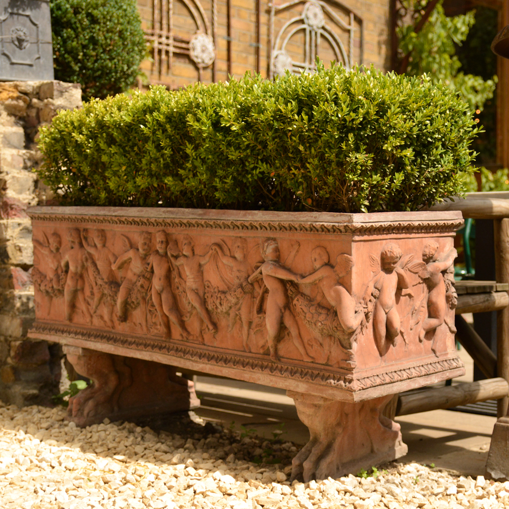 An Italian composition stone rectangular jardiniere-84082