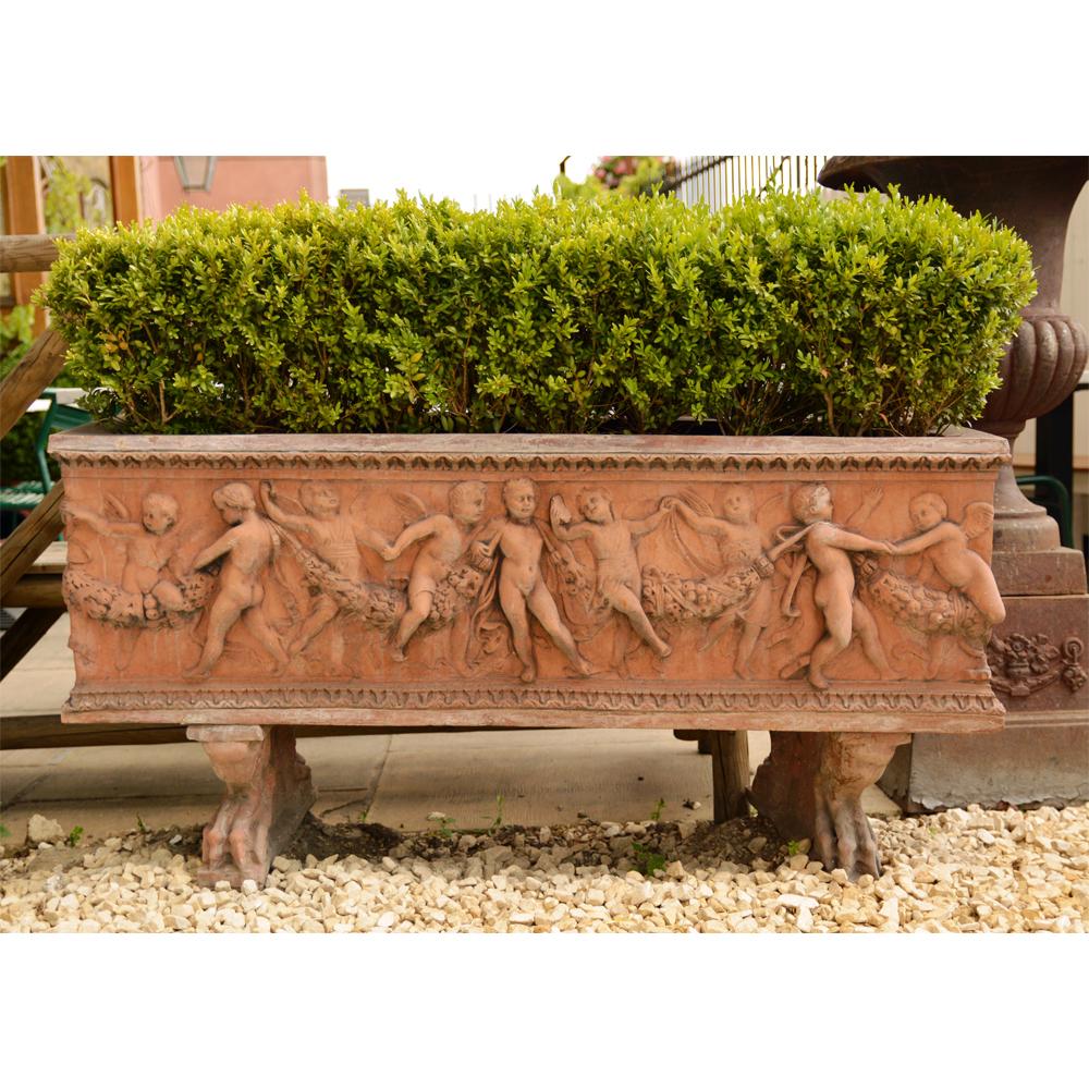 An Italian composition stone rectangular jardiniere-0