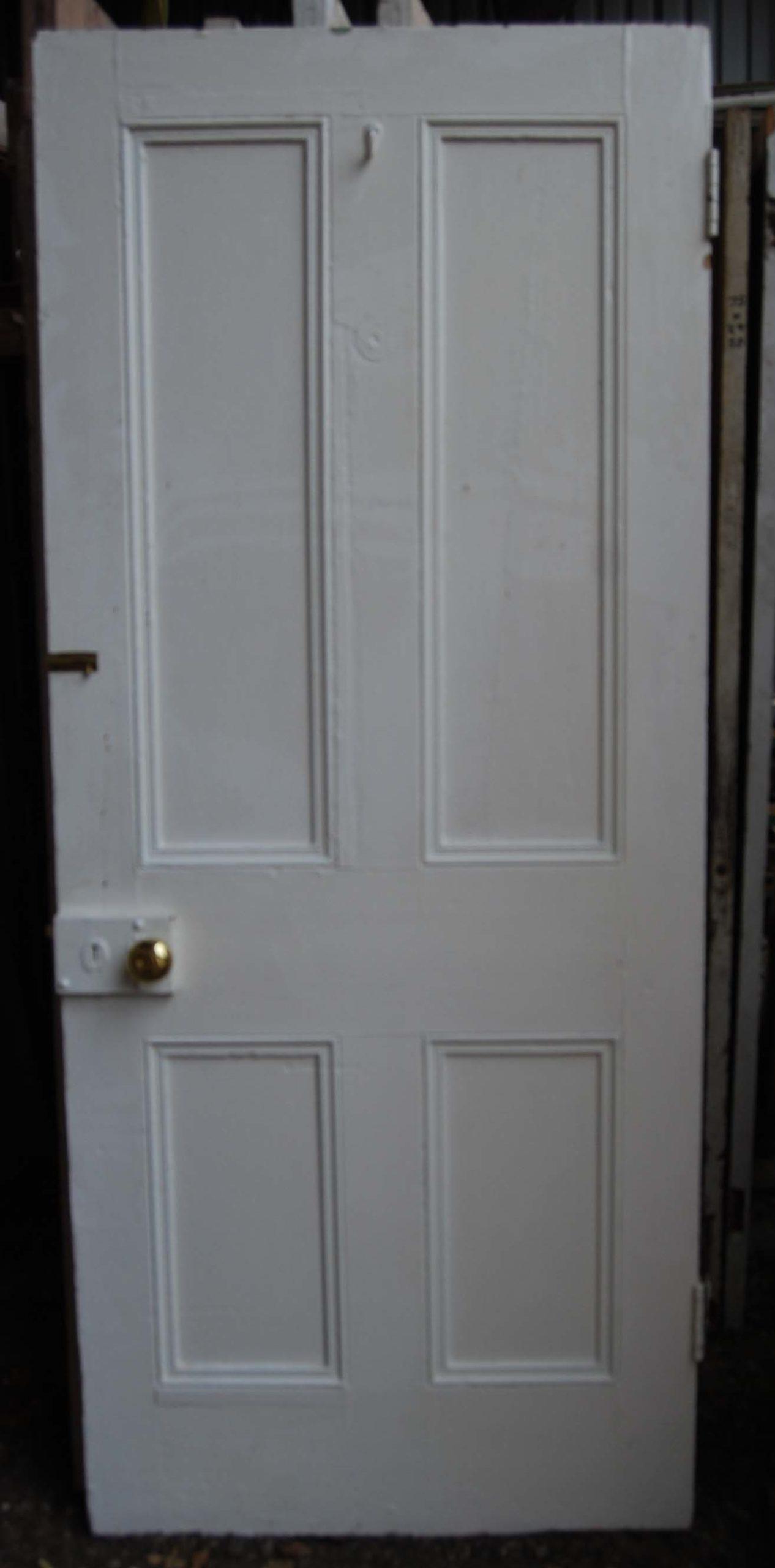 A Victorian four panel pine door-80066