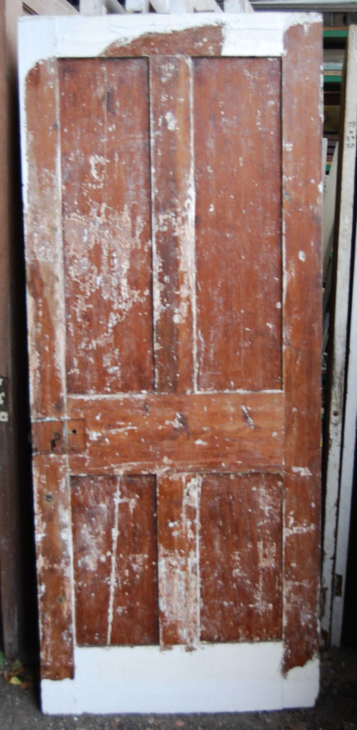 A Victorian four panel pine door-80102