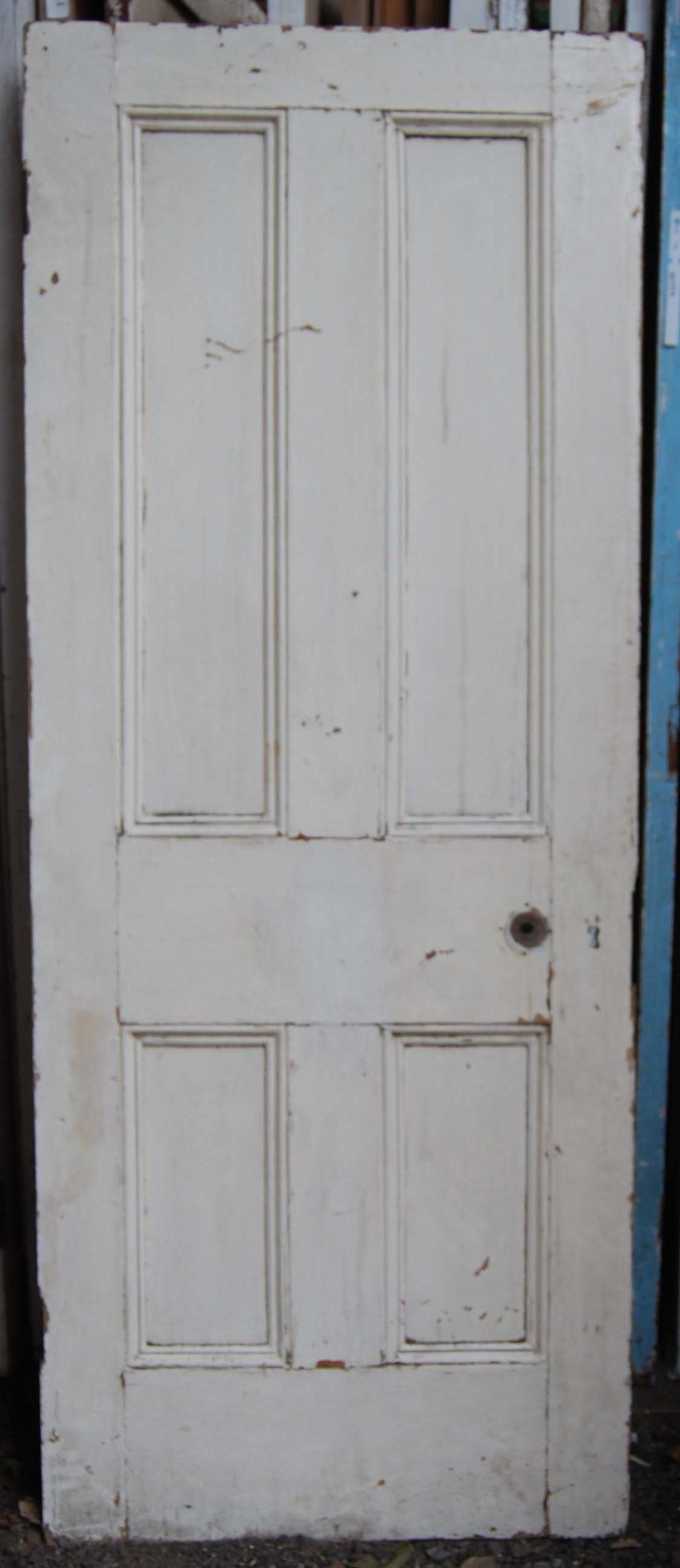 A Victorian four panel pine door-80195