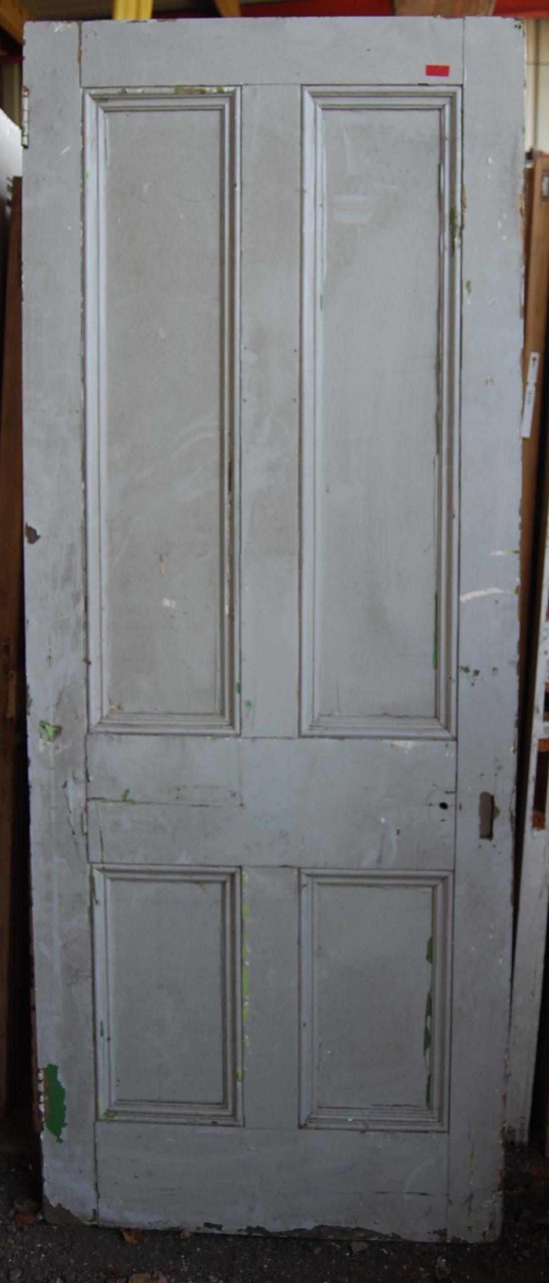 A Victorian four panel pine door-80201