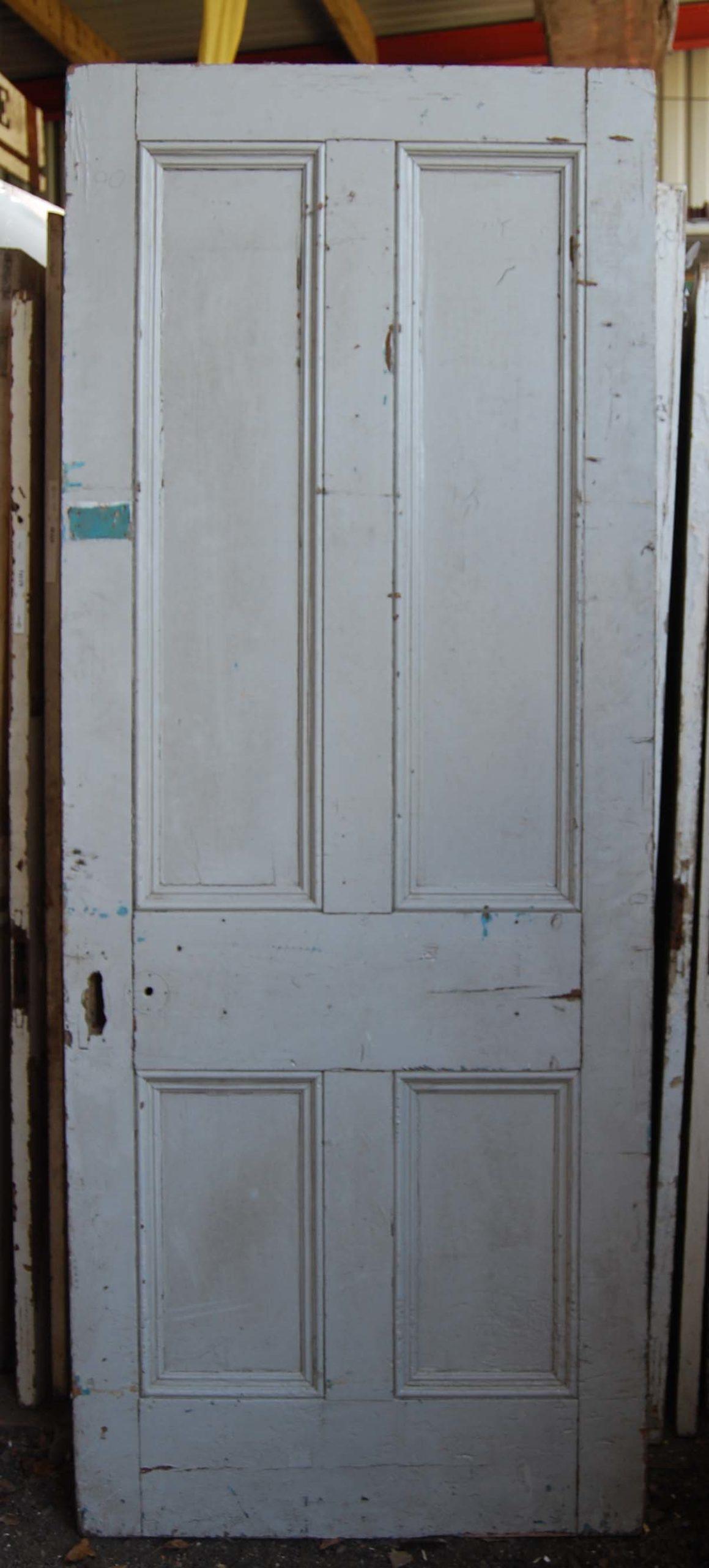 A Victorian four panel pine door-0
