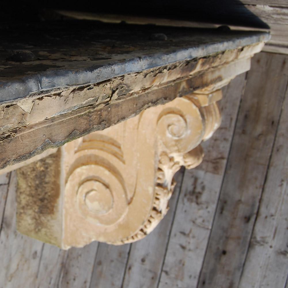 A George II sandstone door canopy,-80248
