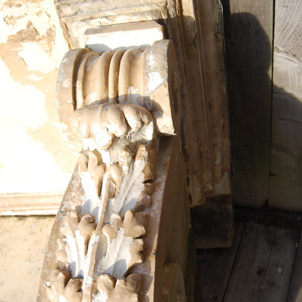 A George II sandstone door canopy,-80249