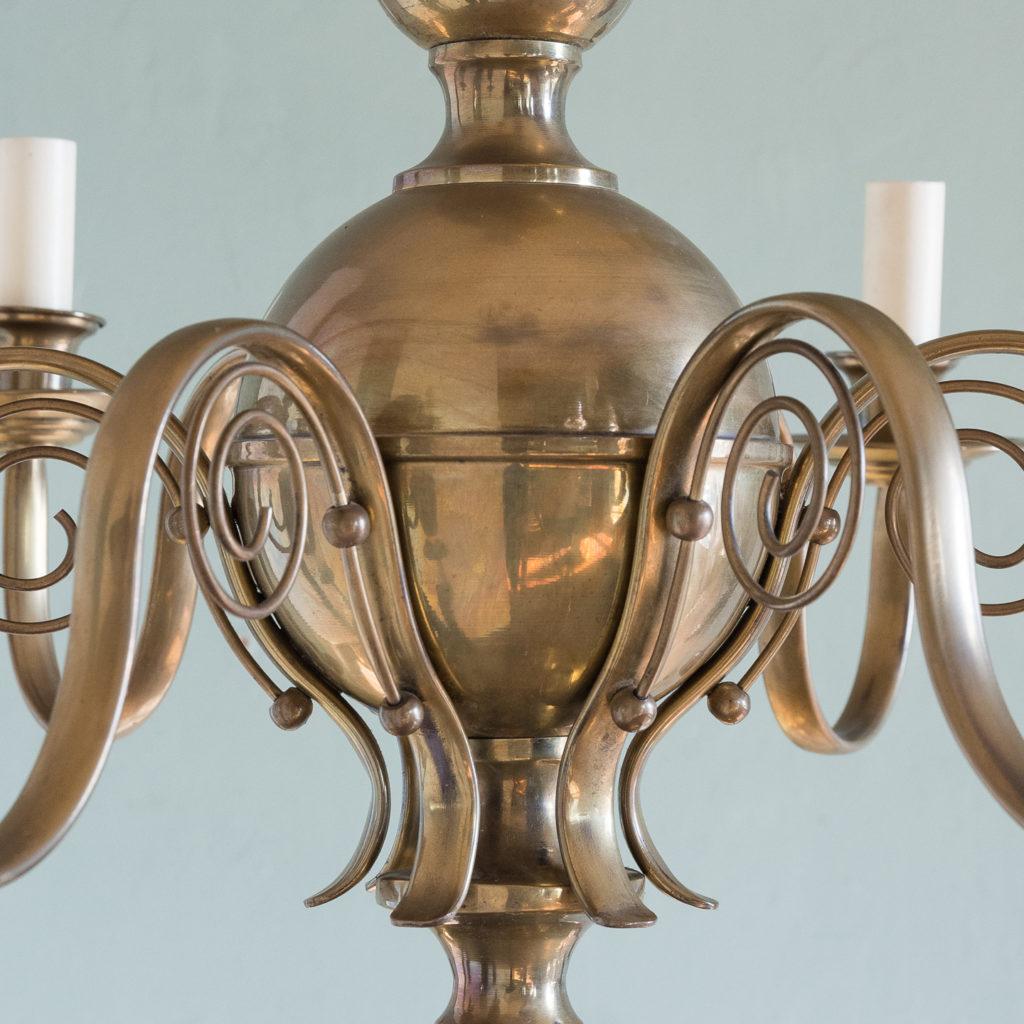 Brass twelve branch chandelier,-120634