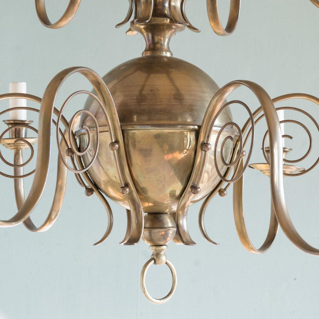 Brass twelve branch chandelier,-120639